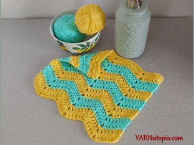 crochet Chevron Washcloth free pattern
