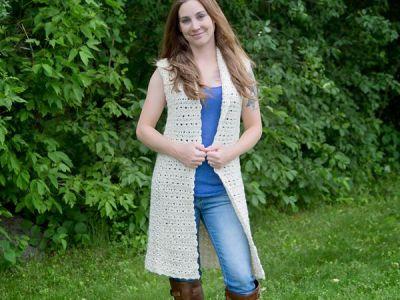 crochet Juniper Vest free pattern
