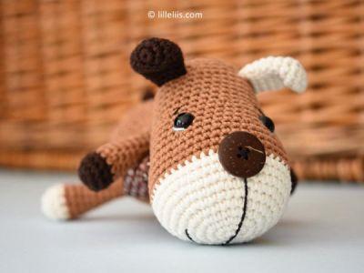 crochet AMIGURUMI SOCK PUPPY free pattern