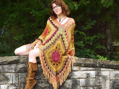 crochet Kismet Poncho free pattern