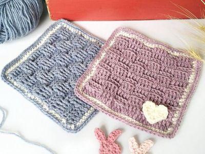 crochet Preemie Bonding Square free pattern