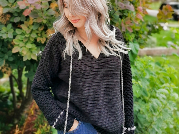 crochet Blairwood Sweater free pattern