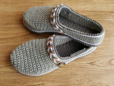crochet Womens Tribal Clogs easy pattern