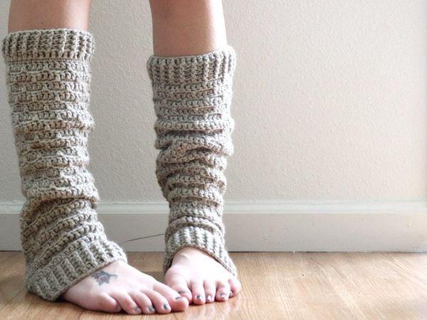 Slouchy Crochet Leg Warmers easy pattern