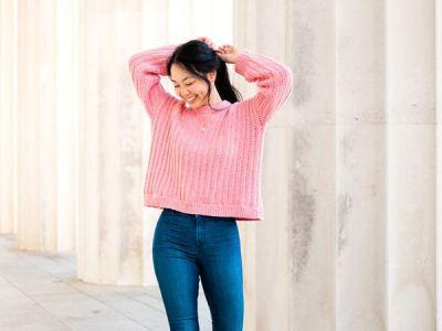 crochet Amalfi Ribbed Sweater free pattern