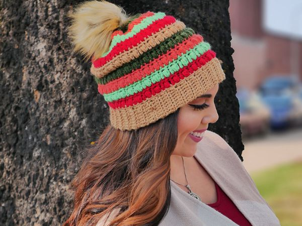 crochet Sign of the Times Beanie Hat free pattern