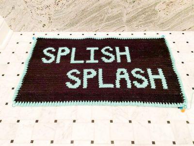 crochet Splish Splash Bath Mat Rug free pattern