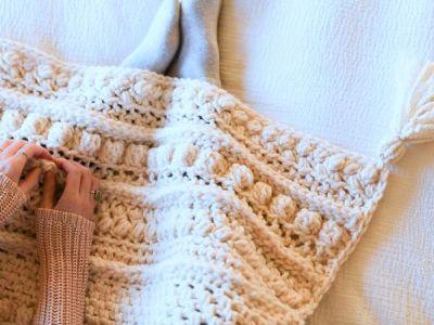 crochet Wintertide Throw free pattern
