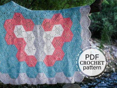 crochet Butterfly Baby Blanket easy Pattern