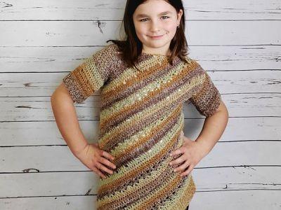 crochet Child Tilted Tunic free pattern