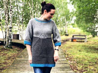 crochet Faraon Sweater easy pattern