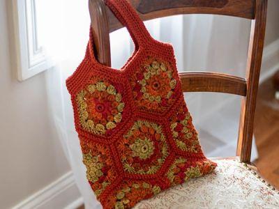 crochet Happy Hexagon Tote free pattern