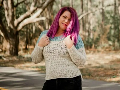 crochet Altia Pullover free pattern