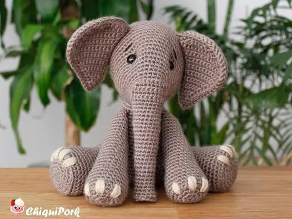 crochet Bubba the Elephant easy pattern