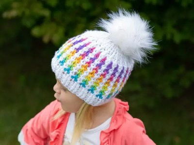 crochet Clever Vertical Stripes Hat easy pattern