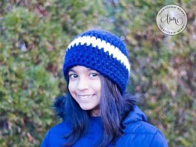crochet Easy Chunky Striped Hat free pattern
