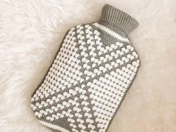 crochet Hot water bottle cover free pattern