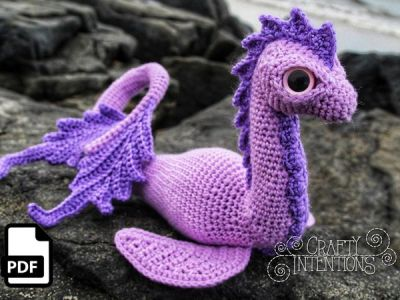 crochet Sea Dinosaur Amigurumi easy pattern