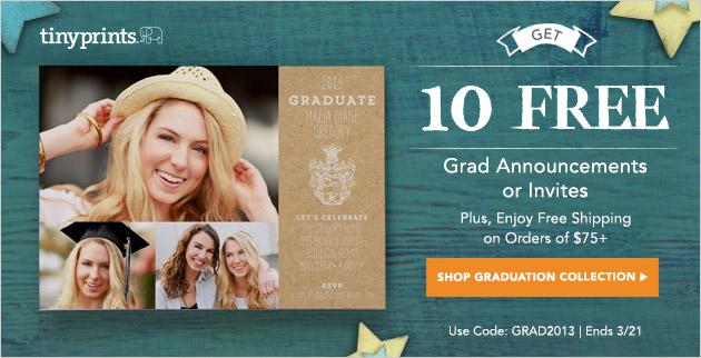 Tiny Prints Graduation Invitations - 10 Free