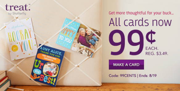 Unlimited Treat Cards for $0.99