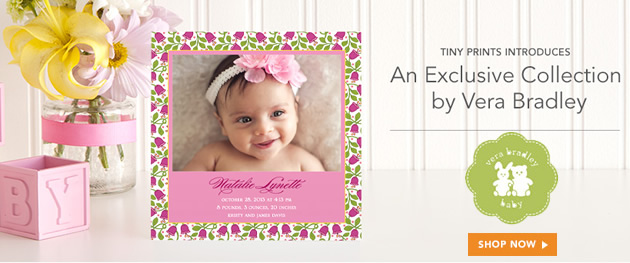 Vera Bradly - Baby Shower Invitations, Birth Announcements, Thank You Cards and Mailing Labels