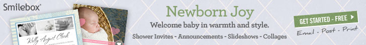 Birth announcements, baby invites, slideshows and more.