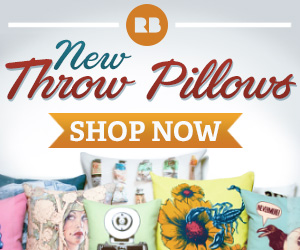 New throw pillow cushions, shop now on Redbubble