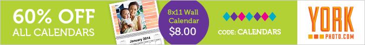 60% Off All Custom Photo Calendars!