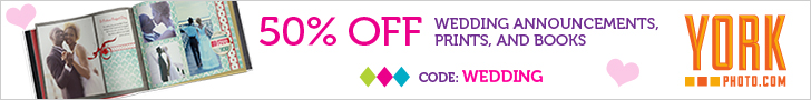 50% Off Wedding Announcements, Prints, and Books!