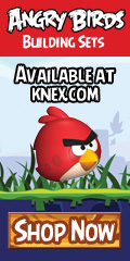 Build, Play, Knock-down!  Angry Birds™ Building Sets from K'NEX allow you to bring your favorite app to life!