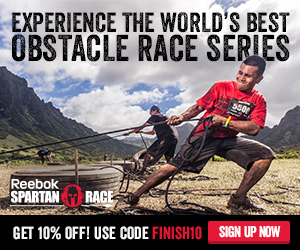 Get 10% off a Reebok Spartan Race, Use Code: FINISH10