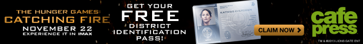 Get your free Hunger Games: Catching Fire Physical District ID Pass Printed at CafePress!