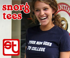 Snorg Tees Cute Model Ad