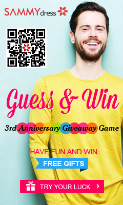 SammyDress 3rd Anniversary Giveaway! Guess the Item Prices and Win UP to $50 Cash Coupon! Have Fun!