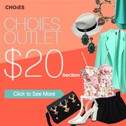 Choies outlet sale $20 section, free shipping