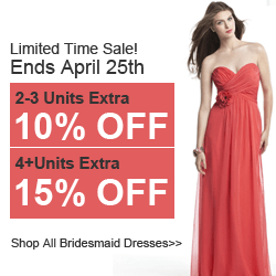 Extra15%OFF On Bridesmaid Sale@Didobridal.