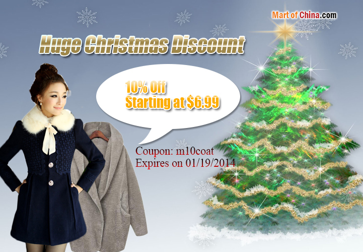 10% Off Coats Christmas 721*500