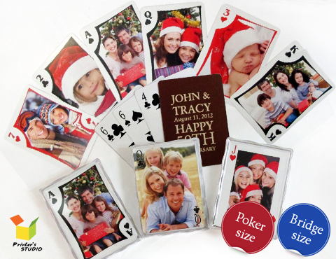 Make your own playing card favors online! No minimums and fast shipping