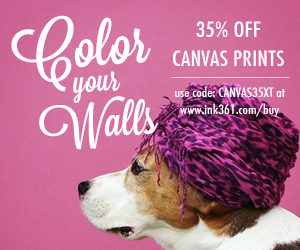 save 35% off Canvas Prints from Instagram or uploaded pics
