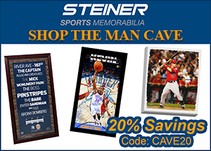 Deck Out the Man Cave at SteinerSports.com: 20% Off Sitewide with code CAVE20