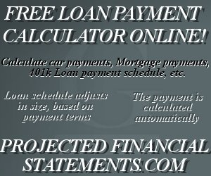 Business Modeling Software.  Free Tools Online, including a loan payment calculator!