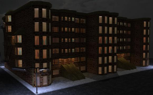 brownstone rowhouse for Tink's Cafe'