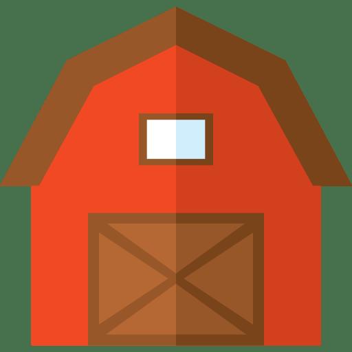 Barn Buildings Gardening Real Estate Farm Icon