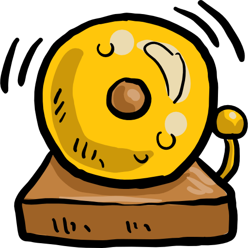 Alarm Bell Education Notification Tools And Utensils