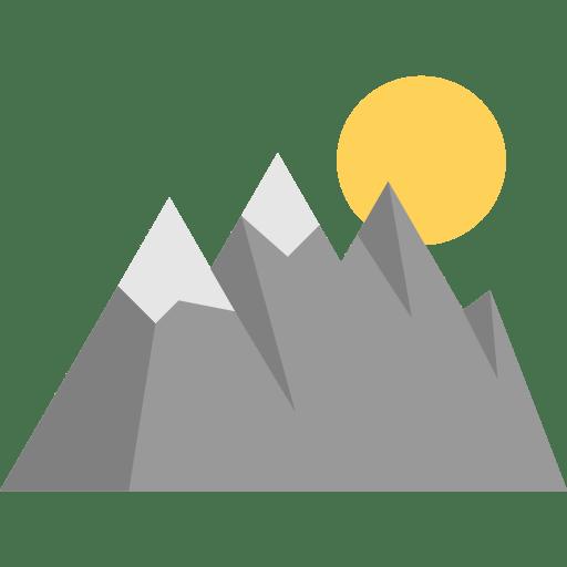 Goal Mountain Mountains Nature Landscape Icon