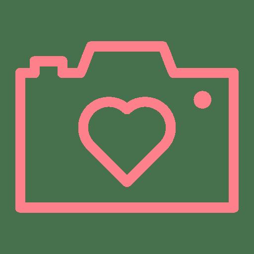 Download Camera, Heart, love, dating, wedding, valentine icon