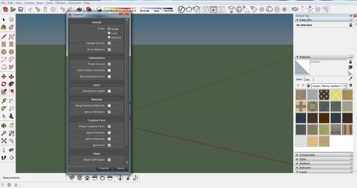 Sketchup Optimization of ready models CleanUp 04 1024x539 - blog - sketchup textures, pbr textures, free pbr textures, cleanup plugin