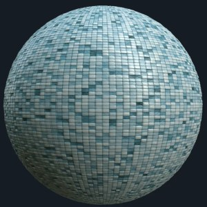 seamless blue pool tiles pbr texture