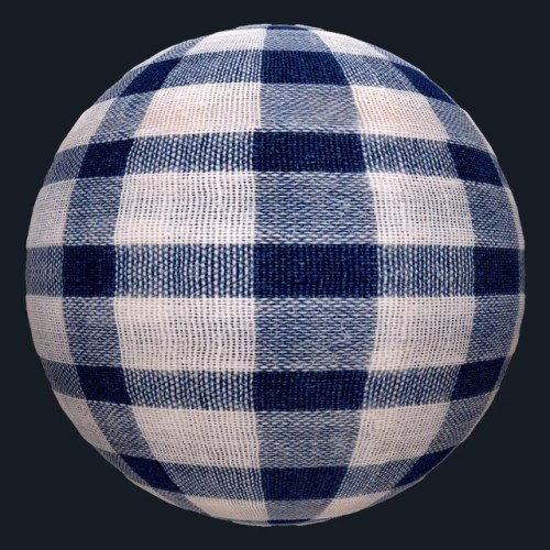 Blue Checkered Tablecloth texture free seamless