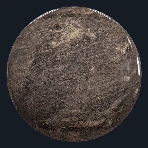 BROWN FANTASY - LEATHERFINISH - MARBLE